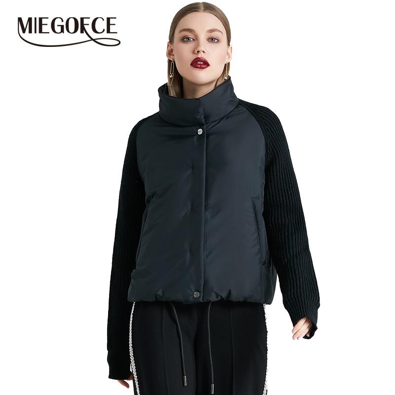 MIEGOFCE 2019 manteau femme court et mince coton rembourré veste printemps veste femme élégant avec col nouvelle Collection printemps