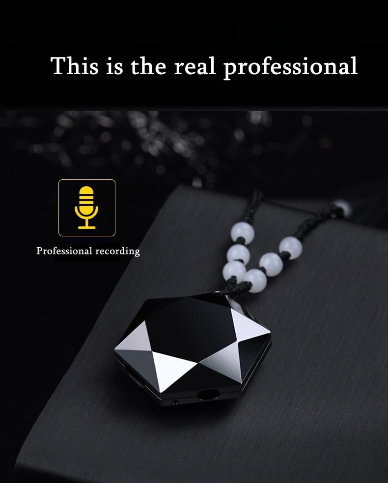 DSstyles Mini enregistreur vocal porte-clés cou sangle collier Portable son Audio stylo professionnel avec lecteur MP3