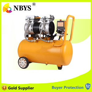 Image 1 - Air Compressor Oil Free Low Noise Silent Oil free Pump For Pneumatic Part Cylinders Filling Machine Free Shipping 1000w 30L Tank