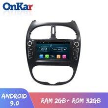 ONKAR nuevo Android 9,0 coche dvd cd sistema de navegación gps para Peugeot 206 Peugeot 2000-2009 táctil de 6,2 pulgadas pantalla con wifi bluetooth radio