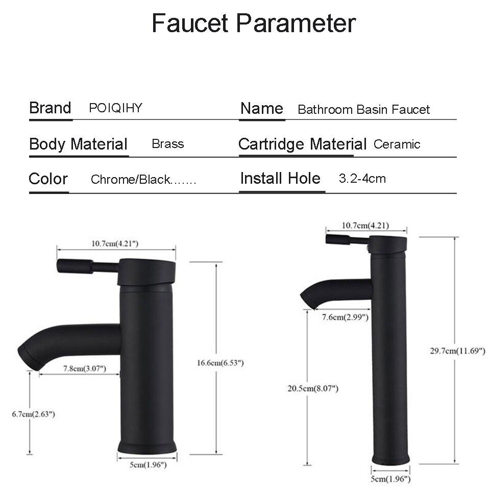 H3e52aed3b38b4b8bbc1c86931b4288c31 POIQIHY Bathroom Basin Faucets Cold/Hot Mixer Basin Sink Tap Black Golden Water Kitchen Faucet Bathroom Vessel Sink Tap One Hole