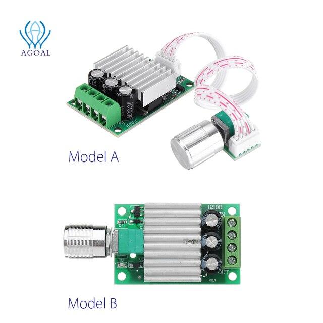 تيار مستمر 12 فولت إلى 24 فولت 10A عالية الطاقة PWM وحدة تحكم في سرعة محرك التيار المستمر تنظيم سرعة درجة الحرارة و يعتم سرعة تنظيم لوحة صغيرة