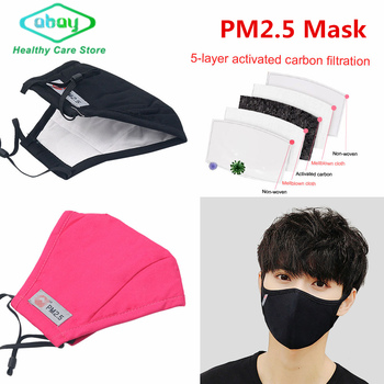 PM2.5 Mouth Mask Anti Pollution/Dust/Flu Cotton Masks Activated Carton Filter Windproof Mouth Muffle Bacteria Face Masks Care