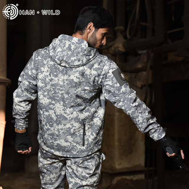 TAD Tactical Jackets Men Soft Shell Hiking Jacket Sets Army Waterproof Camo Hunting Clothes Shark Skin Military Jacket + Pants 4