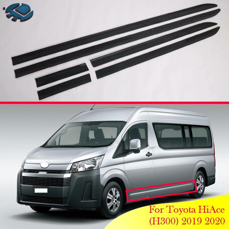 For Toyota Hiace Sixth Generation H300 2019 2020 Car Accessories Abs Side Door Body Molding Moulding Trim