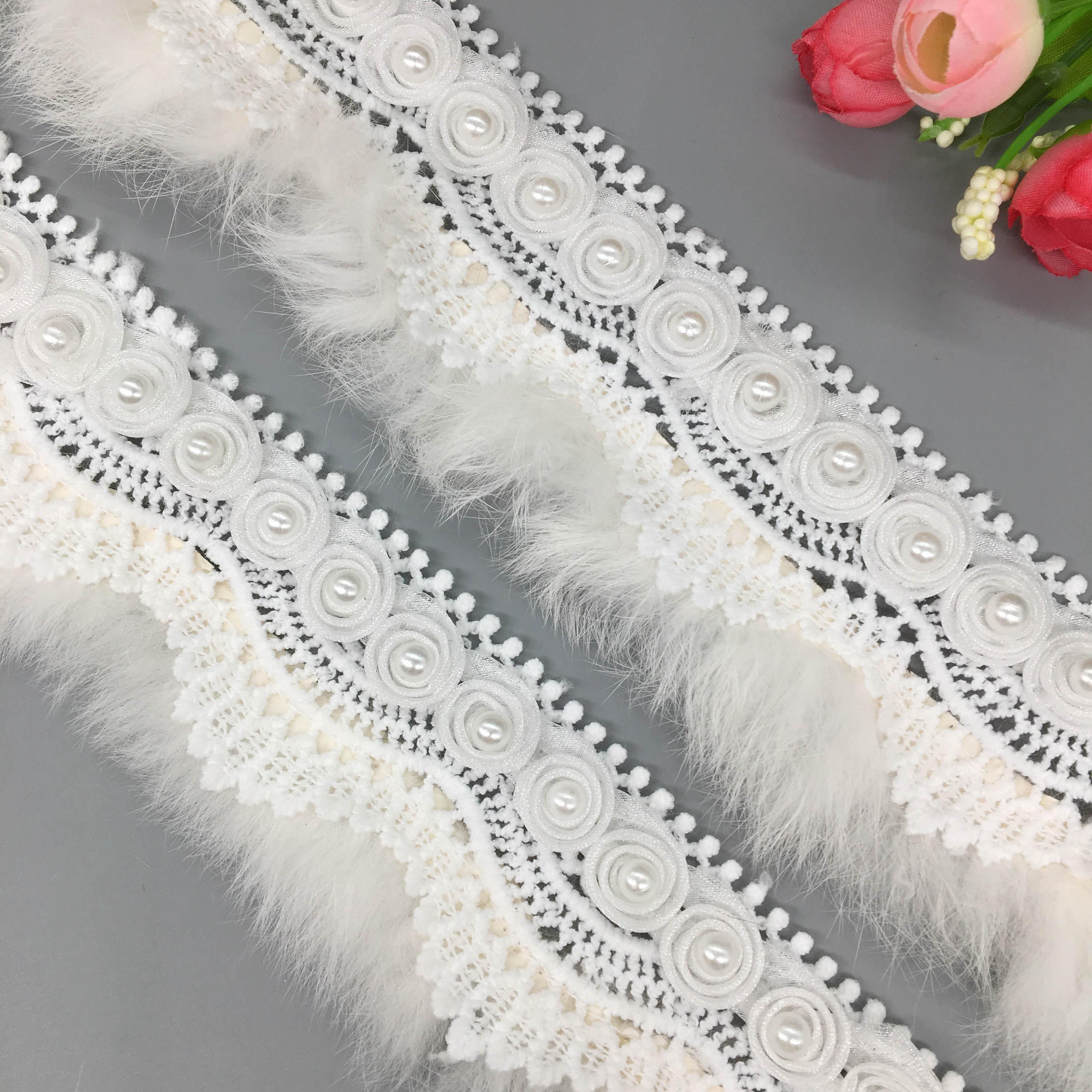 6.5 Cm wide Fancy Sequins Silver Gold Flower Decorate Craft Lace Trim 1 Yard