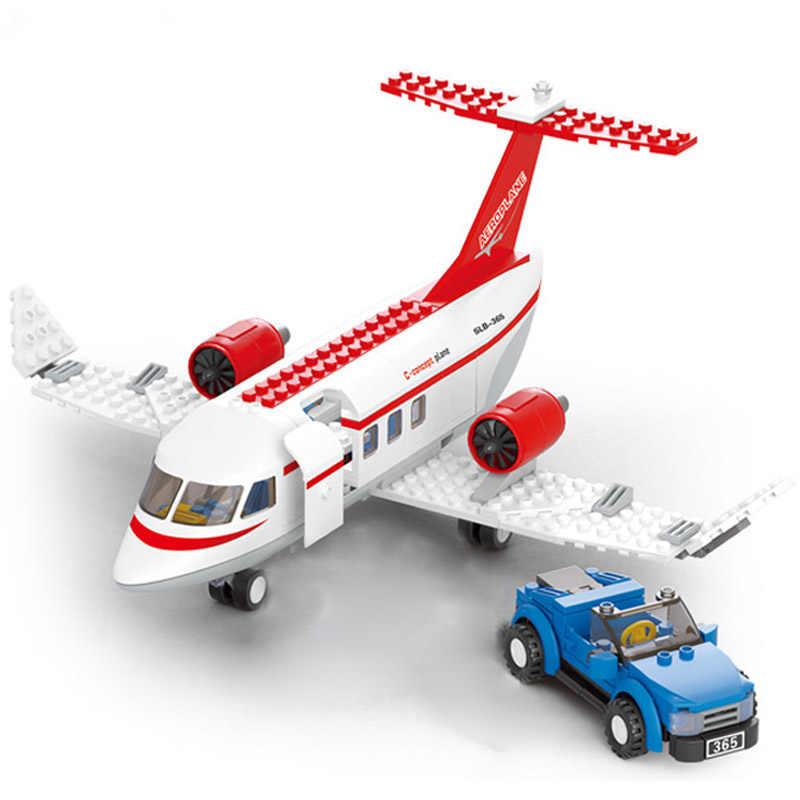 City Plane série aéroport International Airbus avion avion legos blocs de construction définit des chiffres briques jouets pour enfants