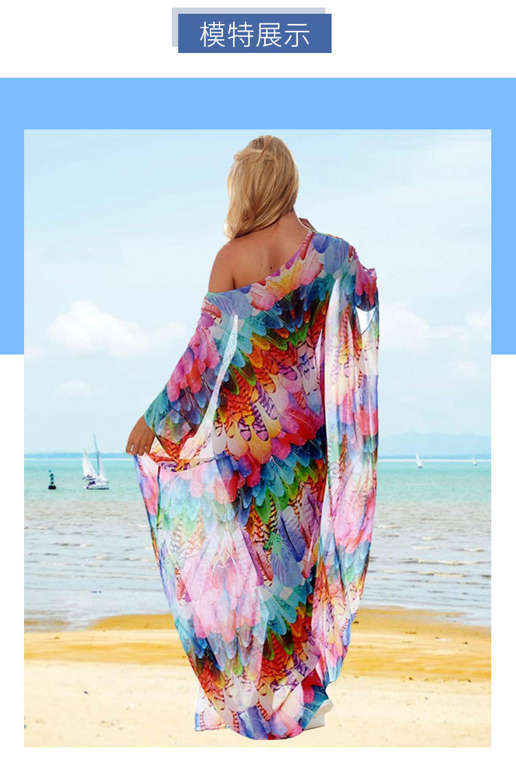 US $14.14 14% OFFWomens Dresses New Arrival 14 Summer Elegant Female  Long Vestidos Bohemian Chiffon Dress Boho Chic Sundress Casual Kaftan