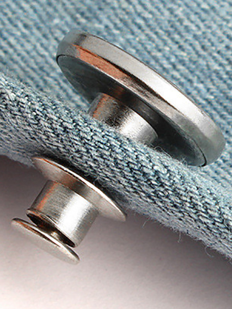 Snap-Fastener Jeans Clothing Sewing Buttons Nail-Twist Perfect-Fit Adjust Waist-Free