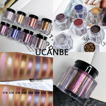 UCANBE Brand Crystal Luster Glitter Eyeshadow Powder Pigment Metallic Shiny Holographic Eye Toppers Single Eye Shadow Makeup