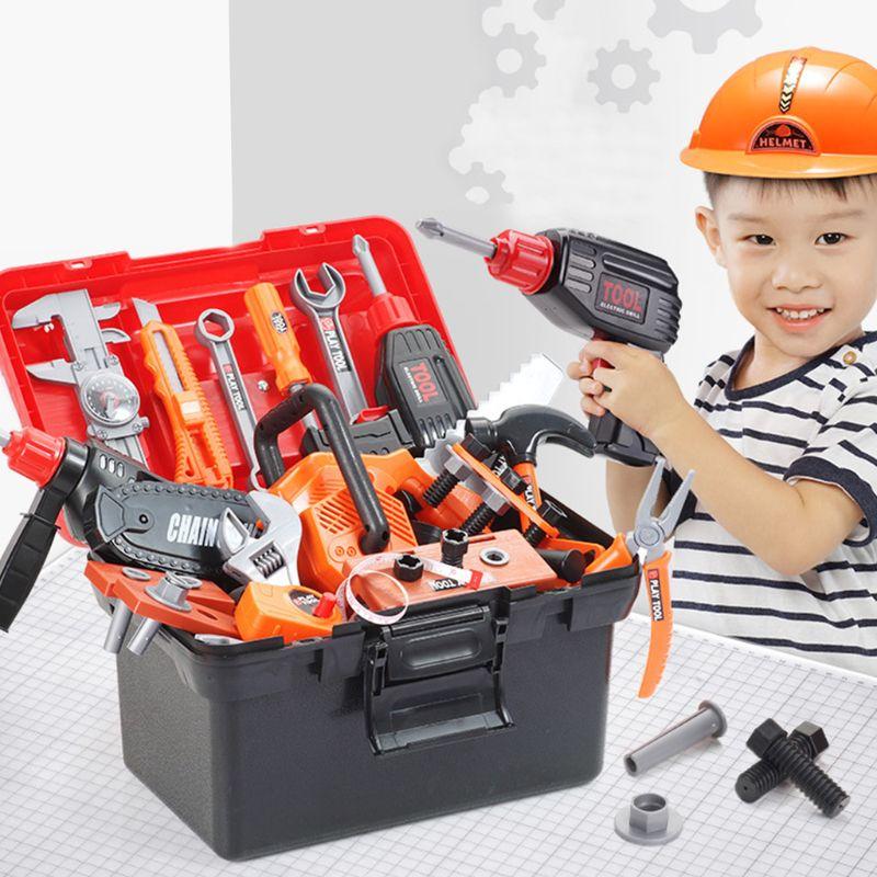 Enfants garçons Simulation réparation boîte à outils Kit jouets éducatifs forage Puzzle jouet ingénierie jeu d'apprentissage pour garçon