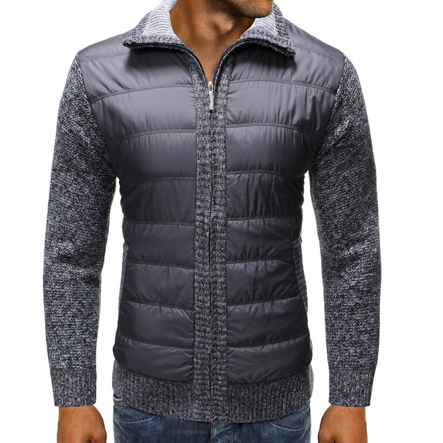 Winter Wool Muscle Fit Knitted Jackets Fashionable Male Clothing 2