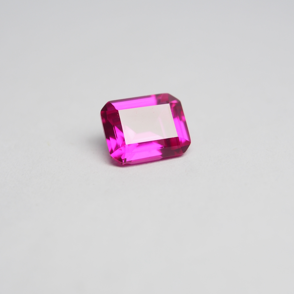 8*10mm 5 Piece /alot 4 carat Top Quality Lab Pink Sapphire Ring Ruby emerald cut Loose Gemstone for BIY Ring making