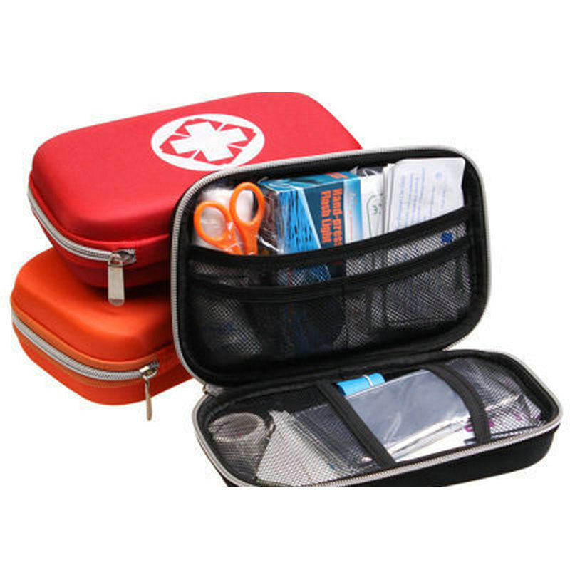 Factory Supply Survival Kit 2018 New Outdoor Portable Eva First Aid Kit Wholesale Car Emergency Medicine Bag Household Small Box