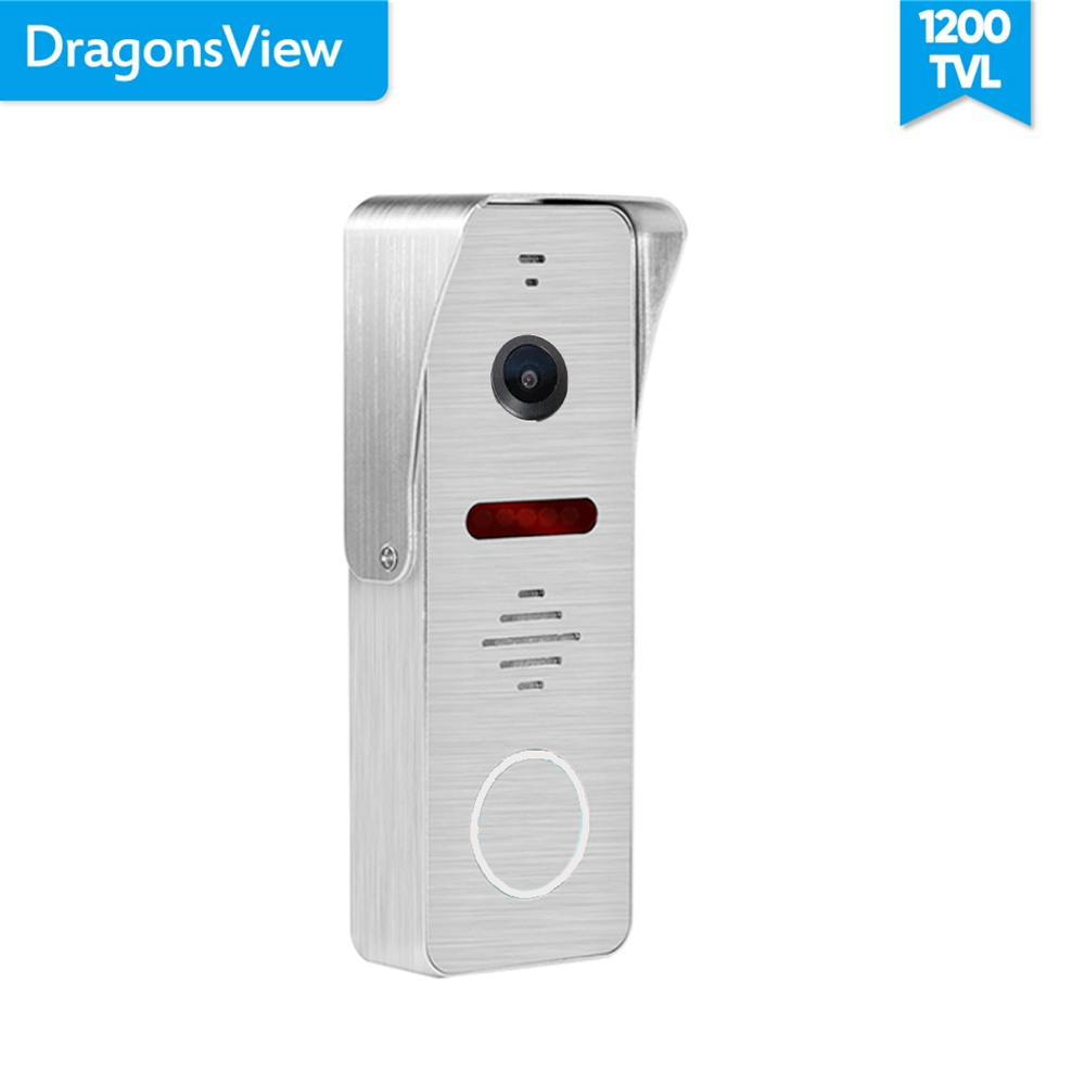 Dragonsview 1200TVL Video Doorbell Camera Wide Angle 130 Degree 2.3MM Lens HD Day Night Vision IR Cut  Outdoor Call Panel