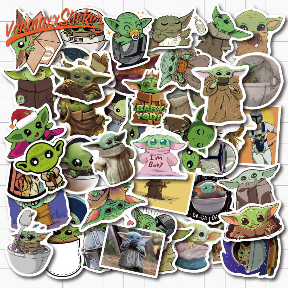VANMAXX 50 PCS Master Yoda Star Wars Cartoon Stickers Waterproof PVCDecal For Laptop Helmet Bicycle Luggage Guitar Phone Case