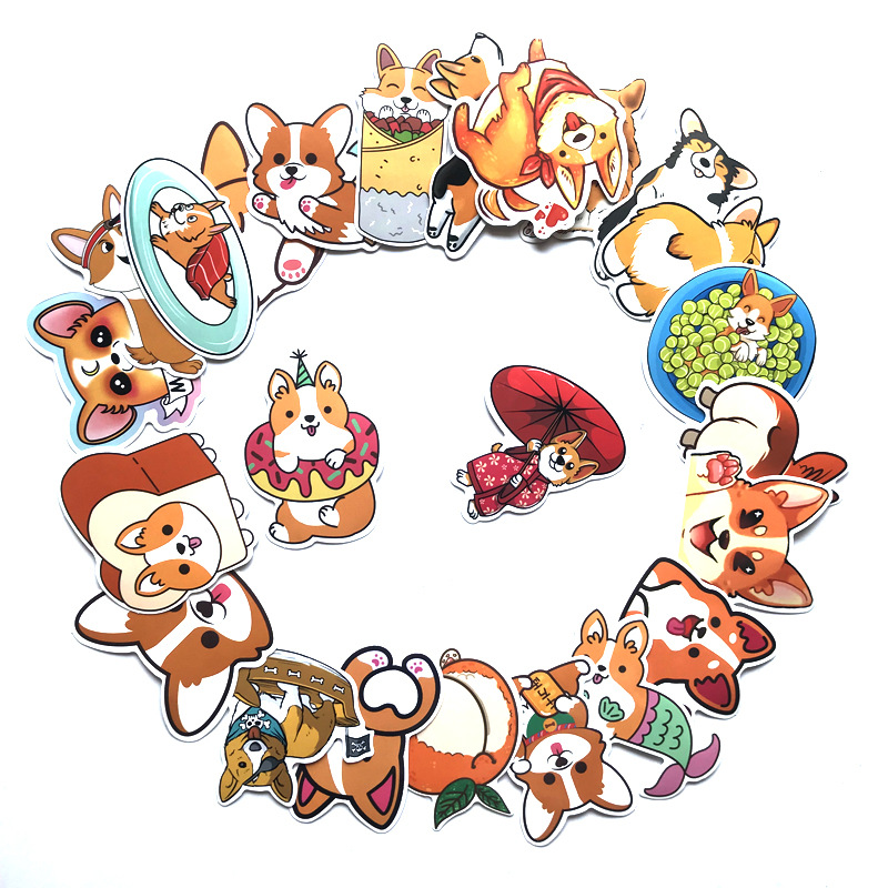 25Pcs Cartoon Keji Stickers For Suitcase Skateboard Laptop Luggage Fridge Phone Car Styling DIY Decal Waterproof Sticker