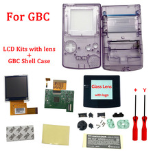 LCD Kits with shell for GBC high brightness LCD and new shell case for Gameboy Color , GBC LCD screen with housing shell case