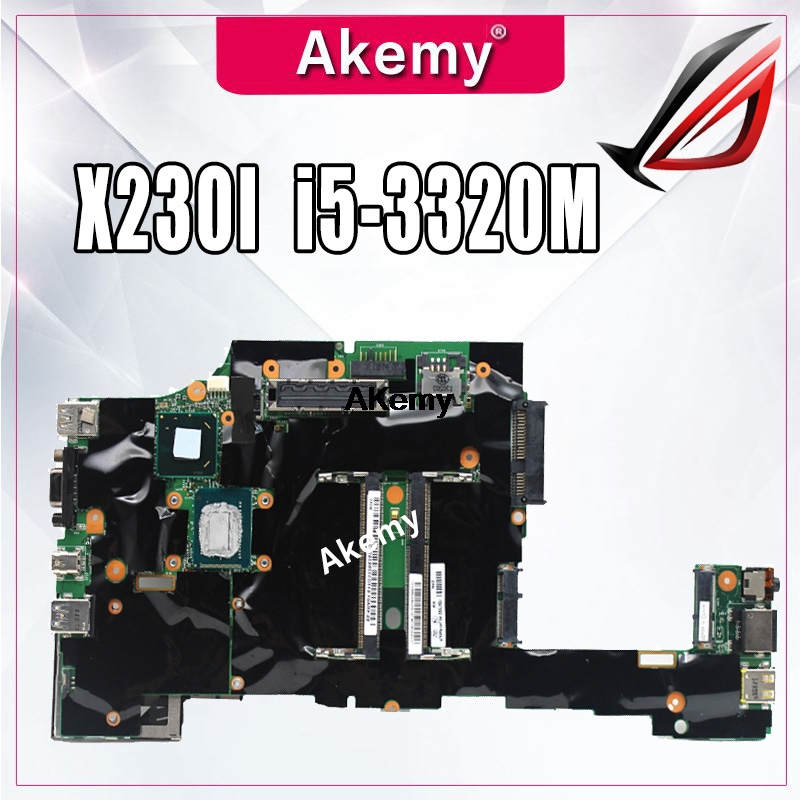 original laptop Lenovo ThinkPad X230 X230i motherboard mainboard <font><b>i5</b></font> <font><b>i5</b></font>-<font><b>3320M</b></font> CPU with fan FRU 04x4501 image
