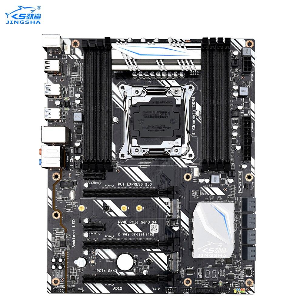 X99 Lga2011-v3 JINGSHA DDR4  Motherboard 4-Channel 256GB RAM,M.2 SSD,SATA3.0,USB3.0,PCIe 16X For E5-V3/V4