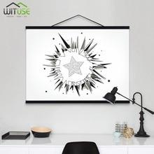 Solid Wood Hanging Scrolls Magnetic Light Wood Frame Hanger for Photo Picutre Canvas Art print Wall Hanging Poster Frame 21-60cm