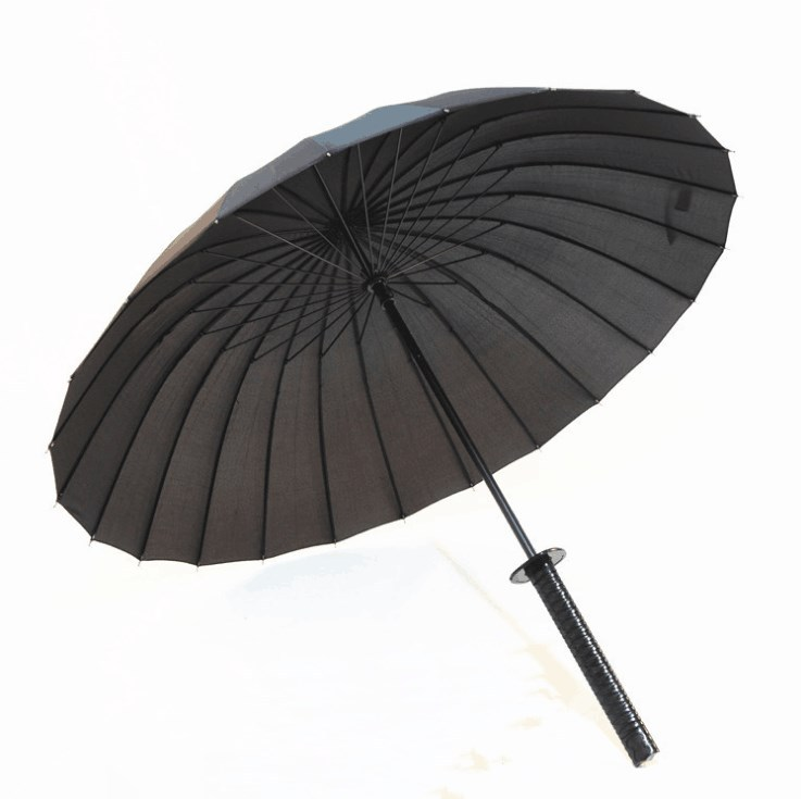 Long Handle wu shi san Straight Pole 24K Creative Handle Umbrella Windproof Business Umbrella Currently Available Wholesale Cust