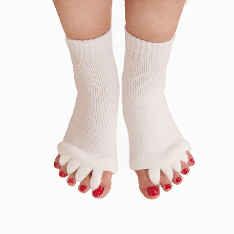 1 Pair Five Socks Toe Separators For Toes Bunion Corrector Hallux Valgus Orthopedic Orthotics Posture Correction