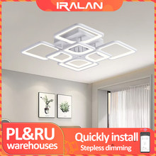 IRALAN — Lustre blanc LED modèle 0126, luminaire moderne pour salon, chambre à coucher et cuisine, éclairage domestique, installation fixe
