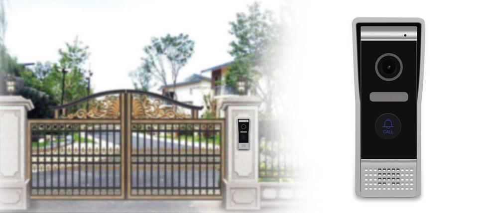 Купить с кэшбэком JeaTone IP Aluminum Door Bell Video Door Phone High Resolution Outside Doorbell Call Panel IP65 Waterproof, Wide Angle Degree