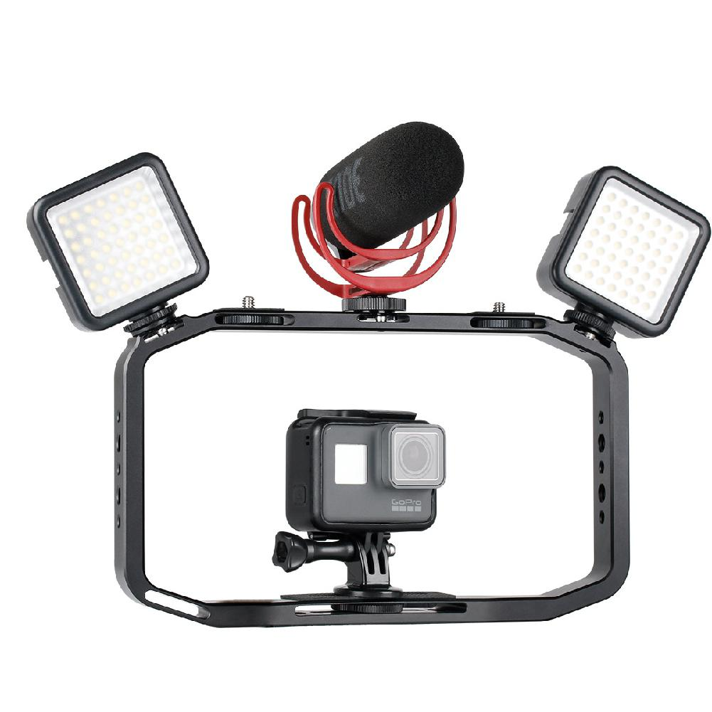 TWISTER.CK Handheld Video Rig For DSLR Phone Gopro Vertical Shooting Camera Cage For Canon Nikon IPhone Xs Max X 8 7 Gopro 5 6 7