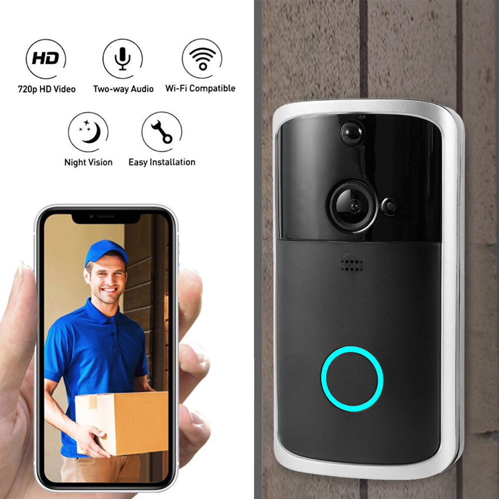 M7 Smart Wifi Video Doorbell Camera Visual Intercom With Chime Night-Vision Ip Door Bell Wireless Home Security HD Camera