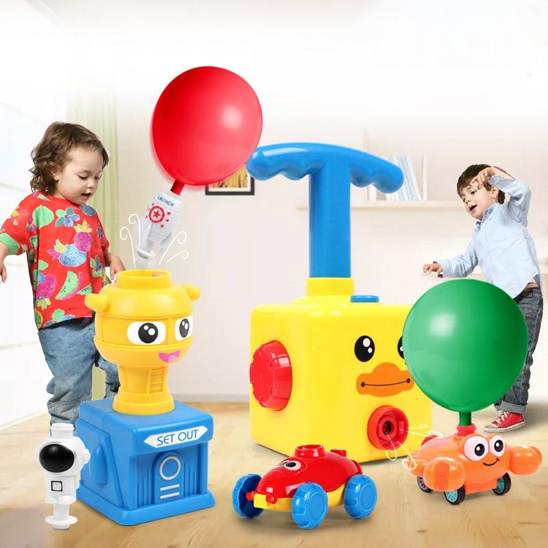 Новый Мощный воздушный шар, пусковая башня, игрушка-пазл, веселая образовательная инерционная воздушная энергия, воздушный шар, автомобиль,...