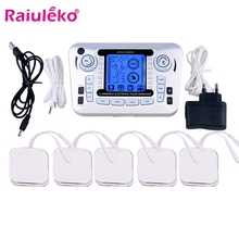 LCD Screen Dual Channel Output TENS EMS Pain Relief Electrical Nerve Muscle Stimulator Digital Therapy Massager Physiotherapy