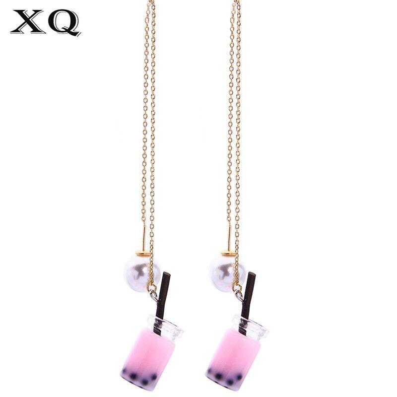 Air Exaggerating Geometric Circular Joker Character Design Tide Female Women Jewelry Stud Earrings