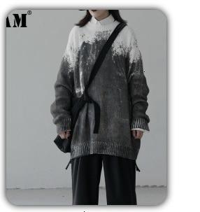 H3e54b0689a62474bac035d0811f63ad2u [EAM] Loose Fit Black Hollow Out Pin Spliced Jacket New Lapel Long Sleeve Women Coat Fashion Tide Autumn Winter 2019 JZ500