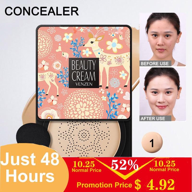 Image 2 - Small Mushroom Head Air Cushion BB Cream Concealer Makeup Finish White Moisturizing Makeup CC cream-in BB & CC Creams from Beauty & Health