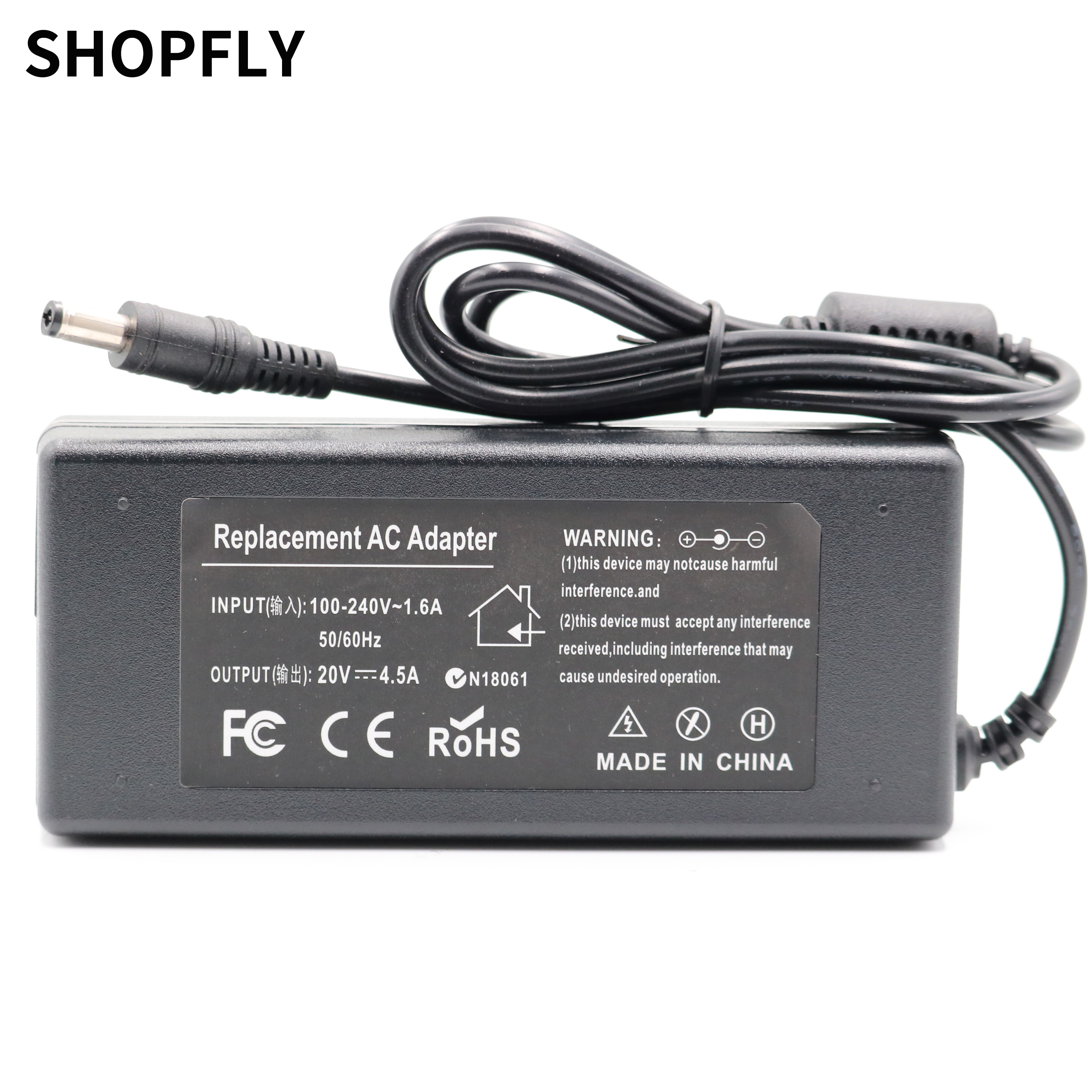20V 4.5A 90W universal AC power adapter for <font><b>Lenovo</b></font> IdeaPad Z475 Z480 Z485 Z500 Z510 <font><b>Z560</b></font> Z565 Z570 Z575 Z580 Z585 charger image