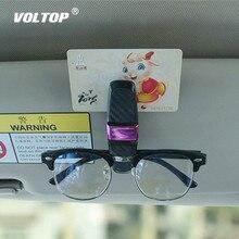 Gafas de sol titular Auto sujetador CIP titular de las gafas accesorios para el coche parasol gafas Clip tarjeta de entrada fundas de gafas negro