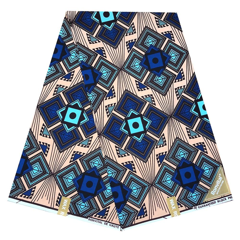 African Wax Print Fabric High Quality Ankara Cotton Material Ankara Fabric Sewing  Dutch Real  Wax 6yard For Dress