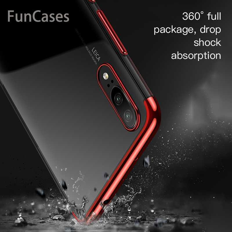 シリコン Tpu ケース Huawei 社の名誉 9 Lite 10 lite V9 再生 V10 7X 7 プラス 7 楽しむ s 8 プラス 8E Psmart Y9 透明フルケースカバー