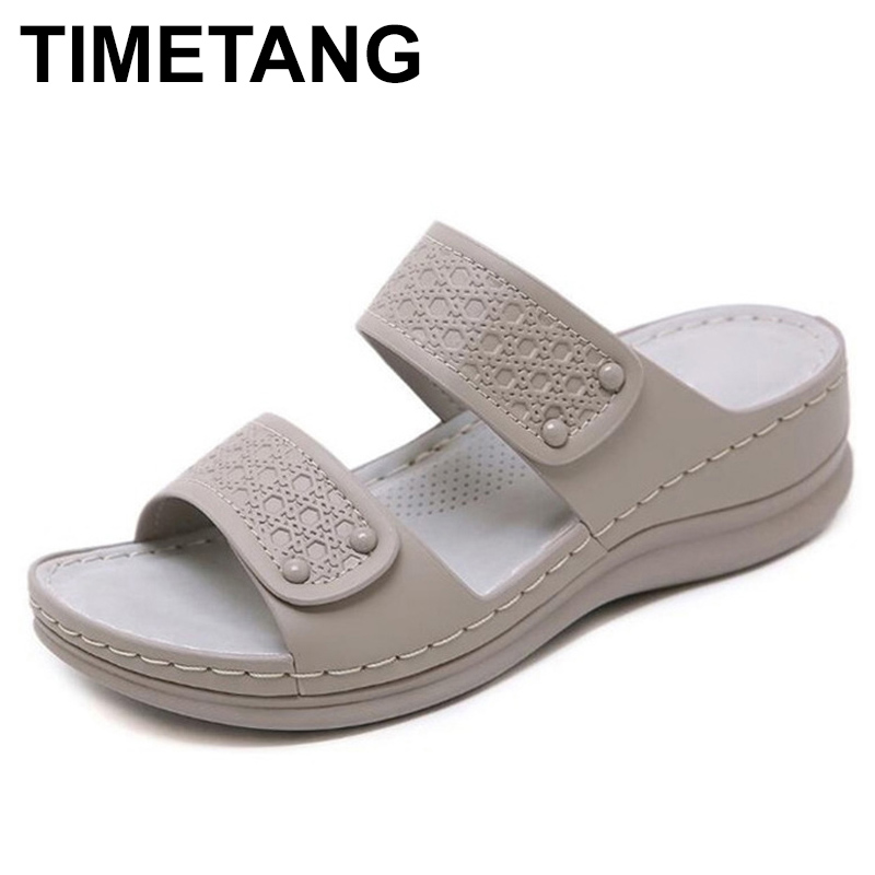 TIMETANGNew Oversized Fashion Female Summer Sandals Large Size With Thick Bottom Comfortable Sandals E057