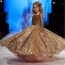 Gold Flower Girl Dresses for weddings first communion dresses for girls  Ball Gown Half Sleeve girls pageant dresses flower girl dresses for weddings lace ball gown long sleeves kids evening gown first communion dresses for girls pageant dress