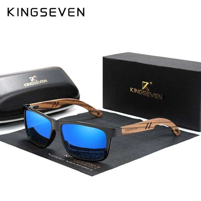Мужские квадратные солнцезащитные очки для вождения KINGSEVEN