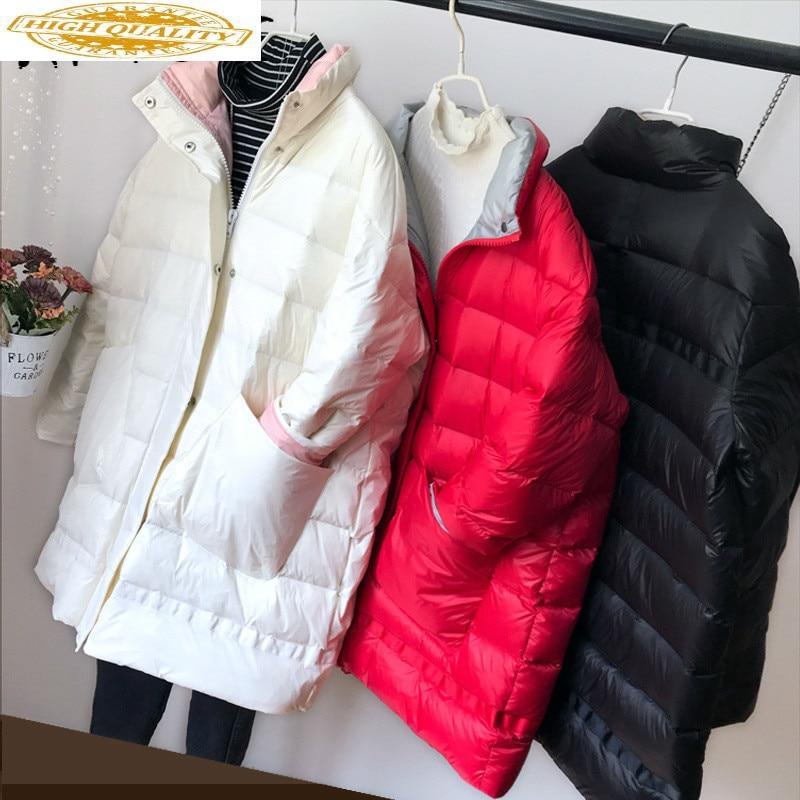 Winter Coat Women White Duck Down Jacket Women Ultra Light Down Jacket Oversized Puffer Jacket Warm Parka Casaco YY1403