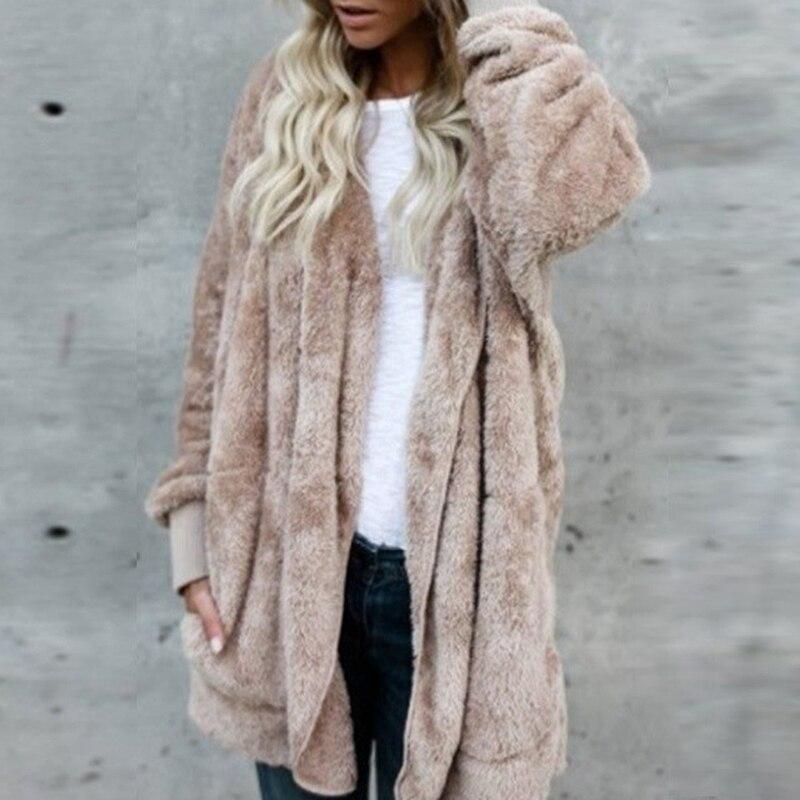 Hooded   basic     jacket   women 2019 casual women desigual spring cardigan fur coat plus size autumn   jackets   coats female CLD1166