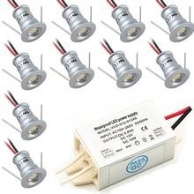 1W DC12V IP65 Mini LED spotlight + IP67 Power Supply Outdoor Party Star Spot Lighting 80Ra 100Lm CE