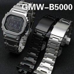 Камуфляжный GMW-B5000 ремешок для часов, металлический ободок, синий ремешок для часов из нержавеющей стали, корпус, браслет, инструменты, оптов...