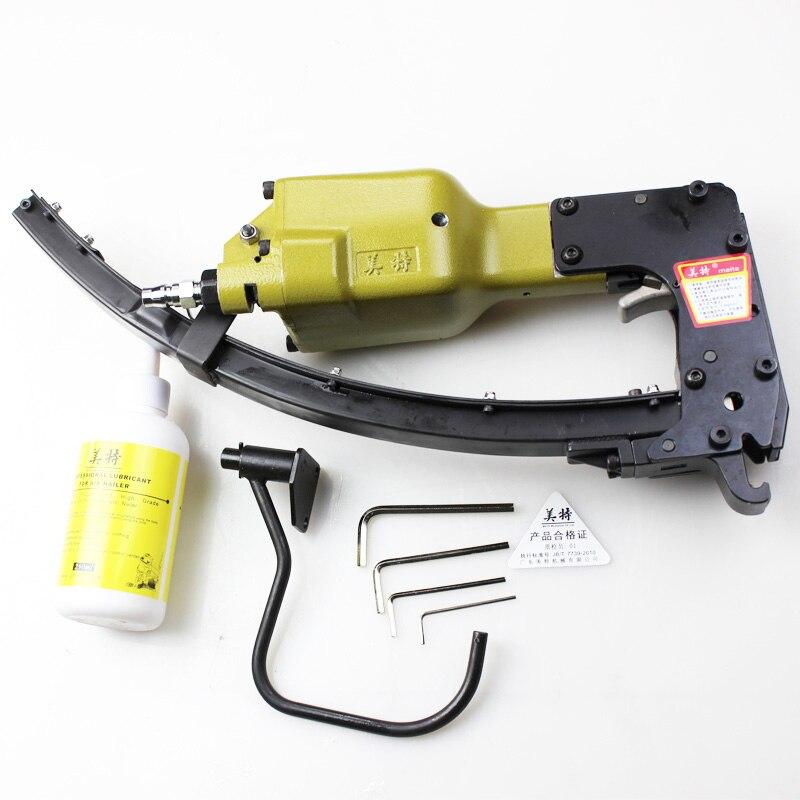 Pneumatic Air Nailer Gun M66 U Shape Clip Nail Nailing Stapler Tool for Mattress sofa spring metal cage fixed Wood wood working