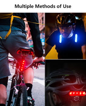 Bicycle Lights Bike Rear Light USB Rechargeable Tail Lamp LED Bicycle Warning Safety Waterproof Cycling Accessories Lights Night image