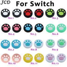 JCD-2 uds. De empuñaduras de pulgar de silicona Con garra de gato para Nintendo Switch NS, tapas de palo analógico, para agarre de JoyCon